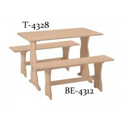 [43 Inch] Trestle Bench