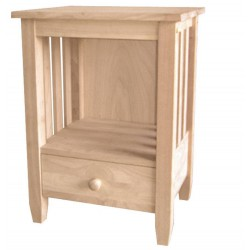 [21 Inch] Mission End Table with Drawer
