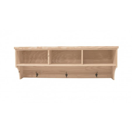 [50 Inch] Wall Cubby Coat Rack