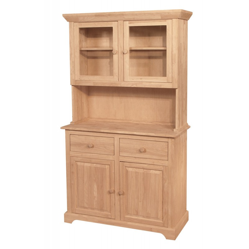 [41 Inch] Whitewood Shaker Buffet and Hutch
