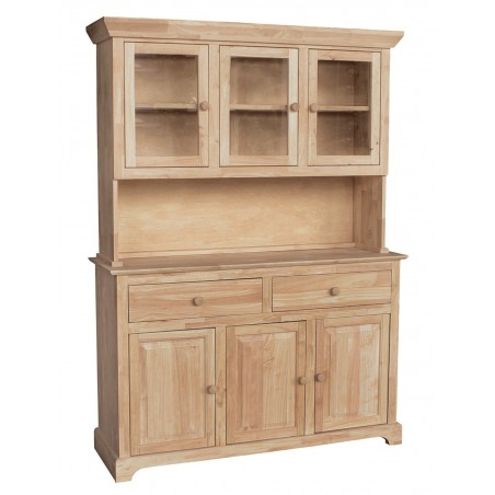 [54 Inch] Shaker Buffet and Hutch
