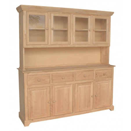 [71 Inch] Shaker Buffet and Hutch