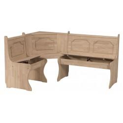 [67 Inch] Corner Storage Benches