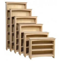 [36 Inch] Alder Shaker Bookcases