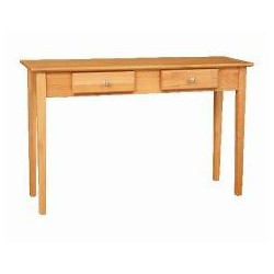 [48 Inch] Alder Shaker Sofa Table - shown in Honey finish