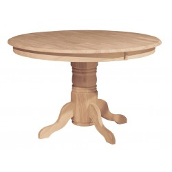 [48 Inch] Solid Dining Table - with T-48B Pedestal