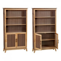 "DUET Addison 72""H X 39""W Bookcase with Doors"