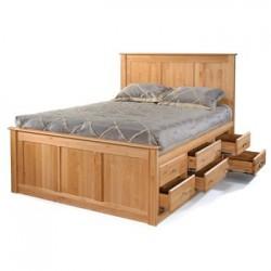 Alder Tall 12 Drawer Chest Storage Bed