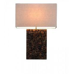 Large Teak Chips Mosaic Table Lamp