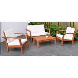 Kingsbury Deep Seating Set 4 Piece with Cushions