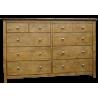 Lancaster 10 Drawer Dresser Pecan