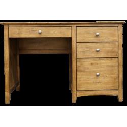 Lancaster 4 Drawer Desk Pecan